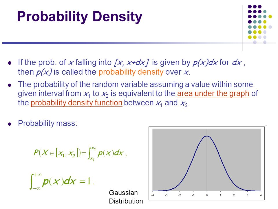 probability density Define probability density probability density synonyms, probability density pronunciation, probability density translation, english dictionary definition of probability density.